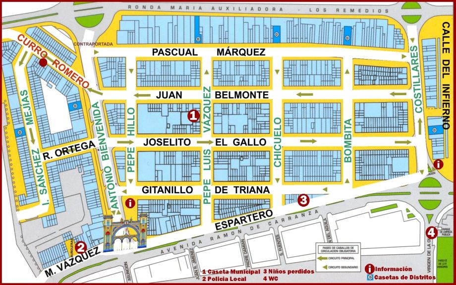 Mapa Feria Sevilla 2019.El Sitio De La Feria Todo Sobre La Feria De Abril De